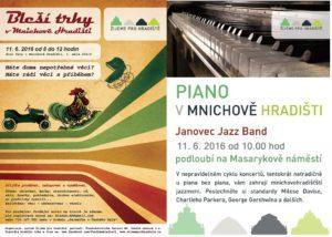 Bleší trhy a Janovec Jazz Band u piana 11. 6. 2016